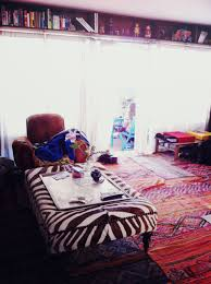 Zebra Living Room Decorating Decorations Bohemian Living Room Idea With Zebra Coffee Table