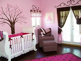 baby room for girl. Baby Nursery: Lovely Pink Crib Bedding Room For Girl