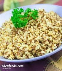 brown rice and red quinoa