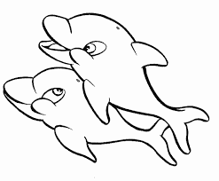 Small Picture Two Cute Dolphin Coloring PagesCutePrintable Coloring Pages Free