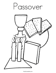 Small Picture Passover Coloring Page Twisty Noodle