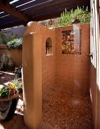 outdoor shower ideas for your swimming pool area