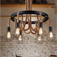 antique industrial lighting fixtures. Retro Led Rope Pendant Lights Edison Industrial Light Regarding Chandelier  Idea 14 Antique Industrial Lighting Fixtures
