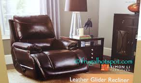Costco Sale Simon Li Furniture Leather Glider Recliner $319 99