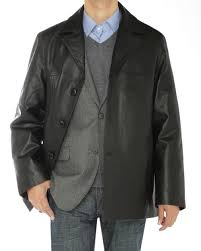 mens lambskin leather top coat 3 on image1