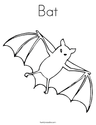 Small Picture Bat Coloring Page Twisty Noodle