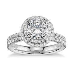 blue nile studio double halo gala diamond engagement ring in