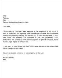 Gratitude Letter Template 35 Sample Appreciation Letters Writing Letters Formats