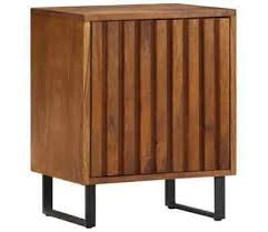 Bedside Mango Wood <b>Nightstand</b> Cabinet Table <b>40X30x50 Cm Solid</b>
