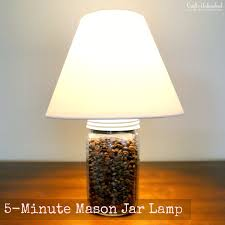 5-Minute Mason Jar Craft Lamp