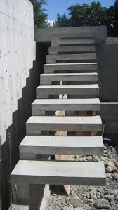 The exterior-concrete-cantilevered-stair is extremely hazardous design.