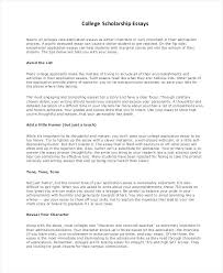 College Scholarship Essays Essays For College Scholarships Examples Essay For College