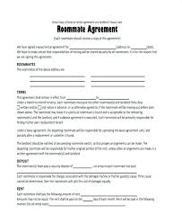 House Rules For Roommates Template Roommate Lease Agreement Template