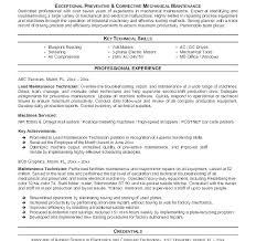 General Maintenance Resume Sample Resume For Maintenance Technician