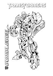 Transformers Coloring Pages Bumblebee Transformer Coloring Pages