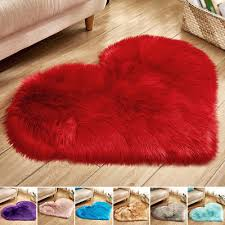 love heart shaped faux fur rug pad non skid mat cushioned pads carpet area rugs