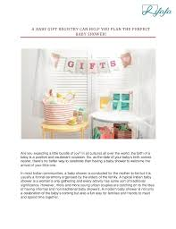 How To Plan Baby Birth Date A Baby Gift Registry Can Help You Plan The Perfect Baby Shower