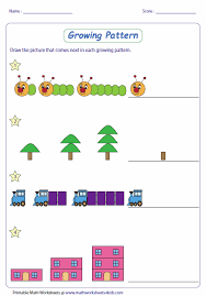 Growing Patterns Impressive Pattern Worksheets