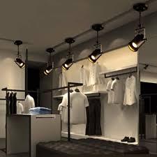 2 3 Heads Led Track Light Vintage Black Track Lamp Clothing Store Spotlights Industrial American Style Loft Rail Spot Lights