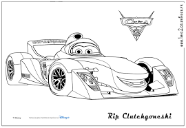 Coloriages Cars 2 Rip Clutchgoneski Cars 2 Coloriages Les