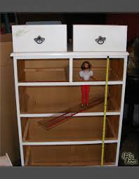 Building A Barbie Doll House With A Recycled Dresser From Just'In Unique Make Your Own Barbie Furniture Property