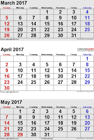 april calendar april 2017 calendars for word excel pdf