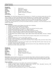 ... developer sample resume. ram tableau