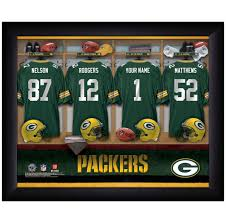 personalized nfl locker room print green bay packers