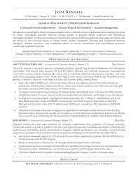 96 Resume For General Contractor General Contractor Resume