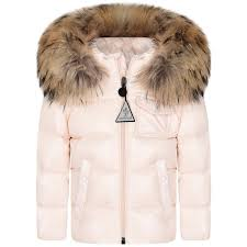 kim kardashian jacket moncler shoes adidas  moncler baby girls pale pink  down padded k2 coat with fur trim