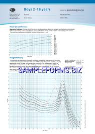 Boys Growth Chart Templates Samples Forms
