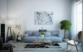 Modern Artwork Blue Grey Sofa Slightest Hint Dma Homes 41082