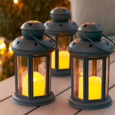 outdoor candle lighting. exellent lighting zoom  oslo grey battery garden lanterns throughout outdoor candle lighting