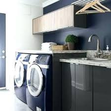 laundry room countertop diy laundry room ideas gray lacquered laundry room cabinets with blue front load washer and dryer laundry room