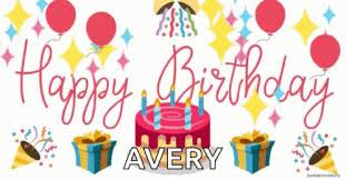 Happy Birthday Avery Birthday Cake Happy Birthday Avery Gif Birthdaycake