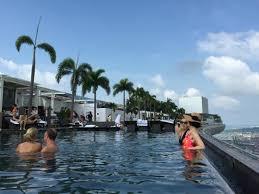 infinity pool mbs. Marina Bay Sands Skypark: Infinity Pool Mbs