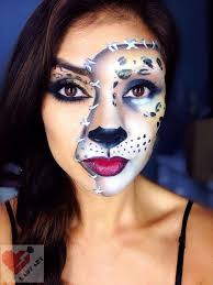 cheetah halloween makeup