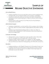 Example Career Objective Resume Examples Of Career Objectives On