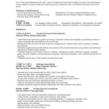 Security Officer Resume Samples Resume Sample Simple Lovely