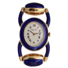 bueche girod jewelry watches 9 for at 1stdibs bueche girod ladies yellow gold e l stirrup bracelet quartz wristwatch