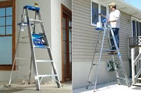 7 foot step ladder 6 foot aluminum step ladder for just free regularly werner 7