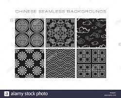 Chinese Designs Chinese Pattern Set With Traditional Designs Vector