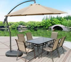 3m heavy duty round cantilever outdoor umbrella beige tan