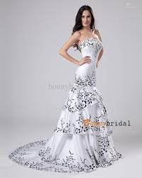 best black and white wedding dress images