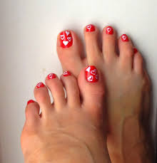 Valentine Toe Nail Art at Best 2017 Nail Designs Tips