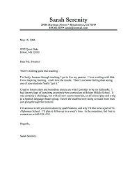 Sample Technical Cover Letter Cover Letter Example Of A Teacher With
