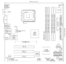 hp and compaq desktop pcs motherboard specifications p5lp le figure layout
