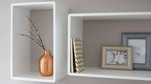 White Square Floating Shelves Adorable Matt White Set Of 32 Box Shelves Storage Display Shelving