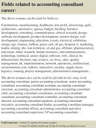 Sample Resumes For Accounting Best of Top 24 Accounting Consultant Resume Samples