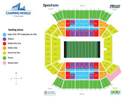 Camping World Stadium Interactive Seating Chart 53 Unexpected Camping World Stadium Seat View